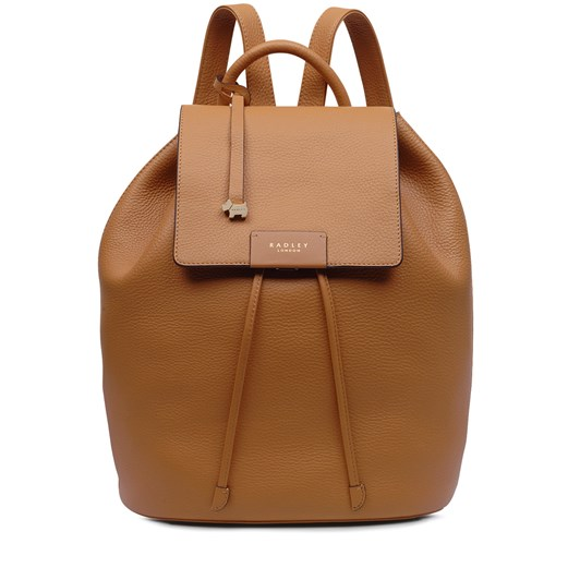 Radley Ada Street Leather Flapover Backpack Dark Butter