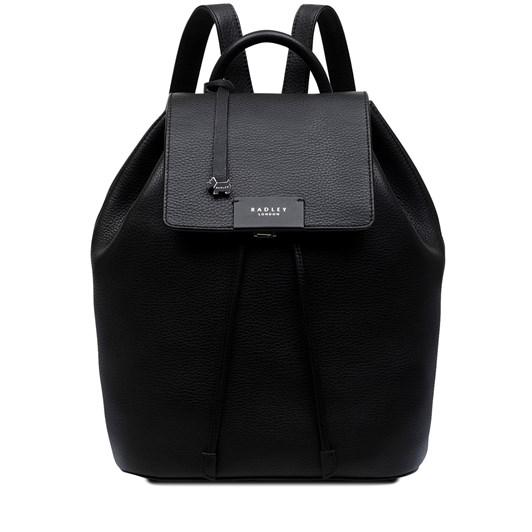 Radley Ada Street Leather Flapover Backpack Black