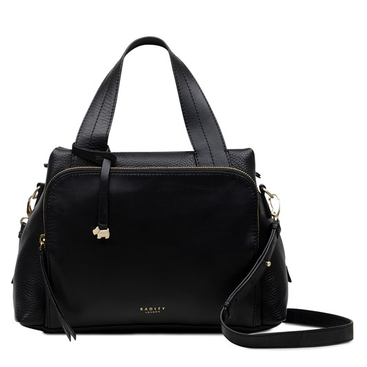Radley Dukes Place Leather Open Top Multiway Bag Black