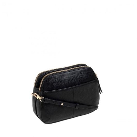 Radley Dukes Place Leather Ziptop Crossbody Bag Black