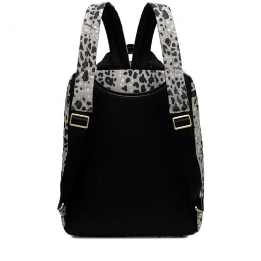 Radley Leopard Oilskin Ziptop Backpack Aluminium