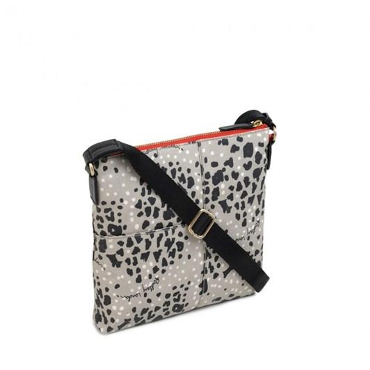 Radley Leopard Oilskin Ziptop Crossbody Bag Aluminium
