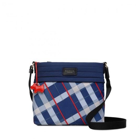 Radley Penton Mews Check Ziptop Crossbody Bag Ink