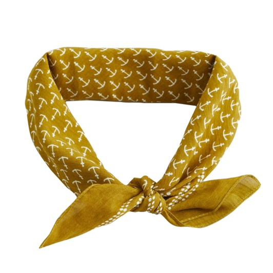 Seasalt Sailor Square Neckerchief Anchor Kelp