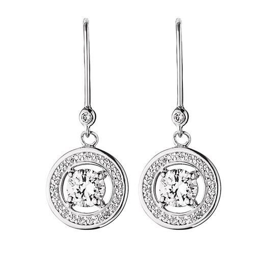 Dyrberg Kern Solitook Sterling Silver Crystal Earring