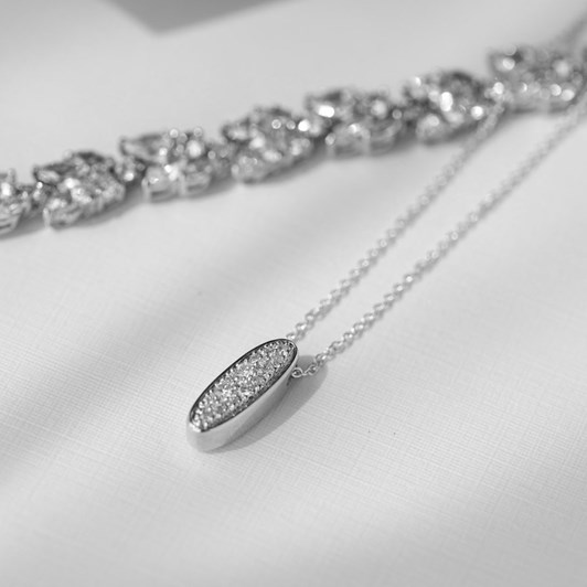 Love In A Jewel The Collette Pendant (Silver) with Crystals