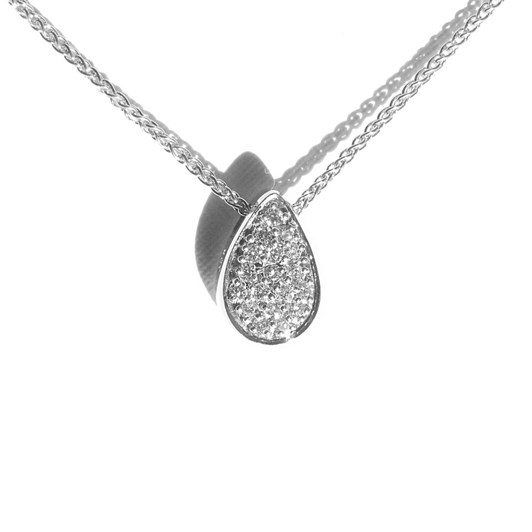 Love In A Jewel The Full Love Drop (Silver) with Crystals