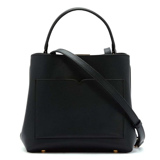 Lulu Guinness Textured Leather Ruby Black
