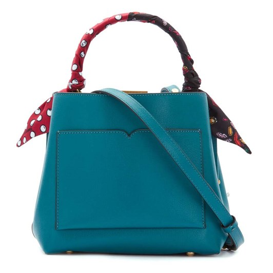 Lulu Guinness Textured Leather Ruby w/ Scarf Emerald