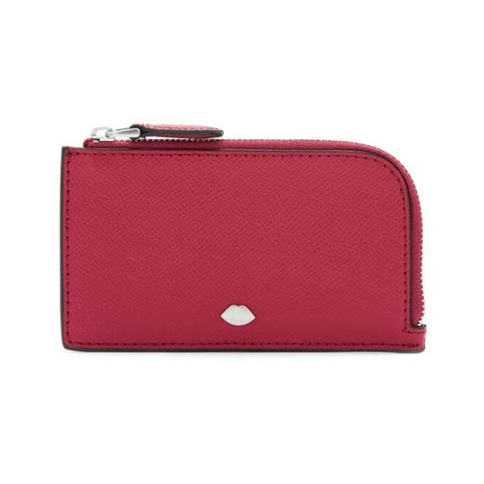 Lulu Guinness Lip Pin Leah Wallet Raspberry