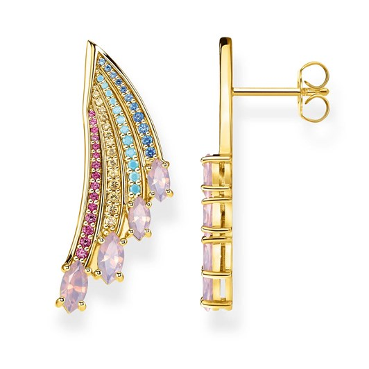 Thomas Sabo Magic Garden Large Wing Yellow Gold Plated Earrings