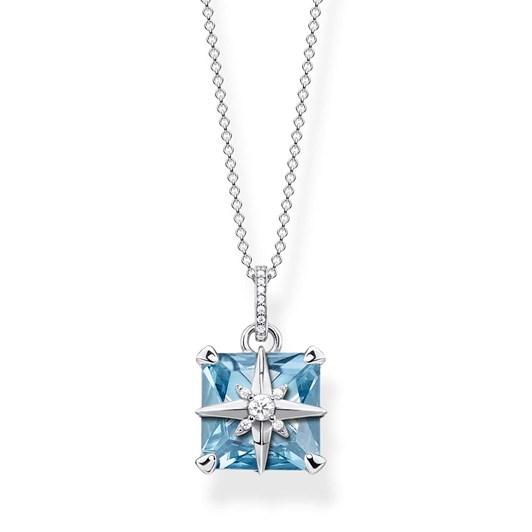 Thomas Sabo Magic Stones Aquamarine Star Necklace 45Cm
