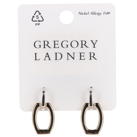 Gregory Ladner 2 Tone Rectangle Drop Earring
