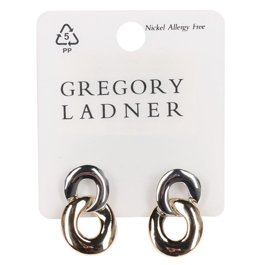 Gregory Ladner 2 Tone Circle Drop Earring