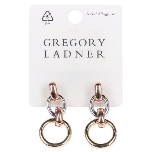 Gregory Ladner 3 Tone Links Drop Earring