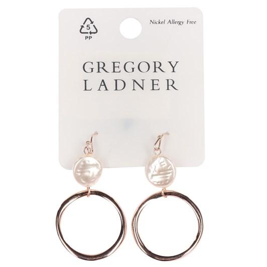 Gregory Ladner Hoop/Pearl Drop Earring