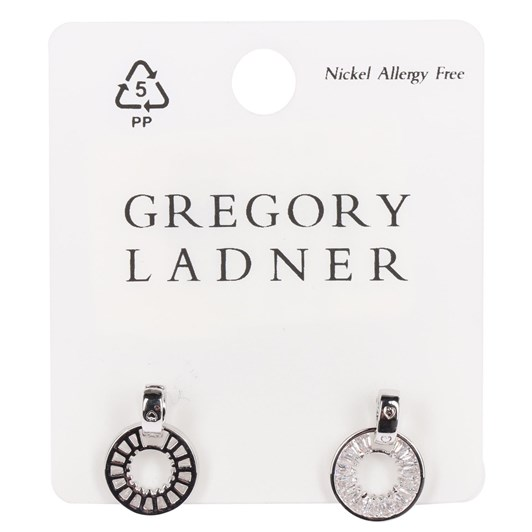 Gregory Ladner Cz Circle Drop Earring