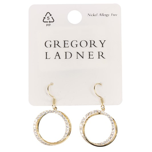 Gregory Ladner Woven Circle Drop Earring