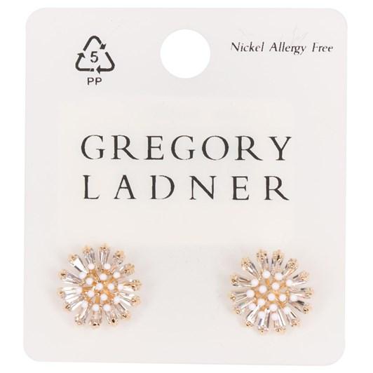 Gregory Ladner Cz/Pearl Starburst Stud Earring