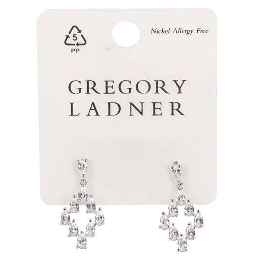 Gregory Ladner Cz Diamond Drop Earring