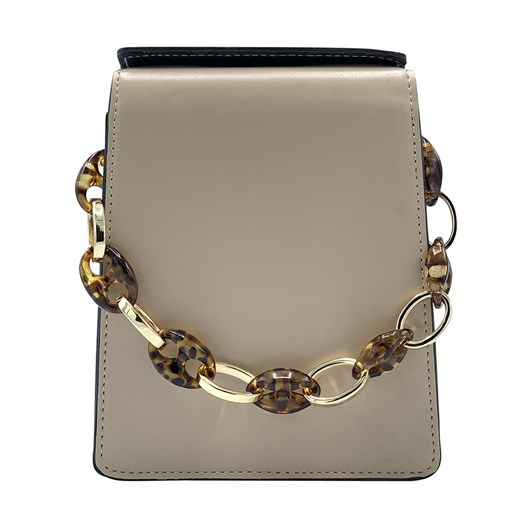 Olga Berg Cherry Acrylic And Chain Top Handle Bag