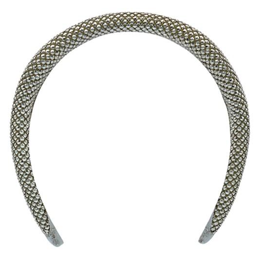 Olga Berg Ebony Metal Mesh Headband