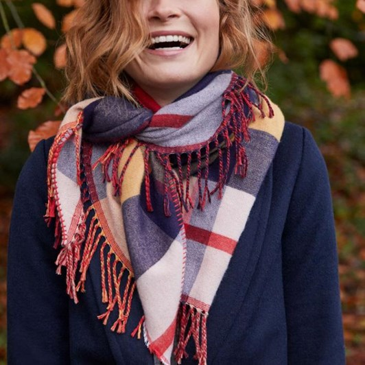 Joules Wilstow Triangle Checked Scarf