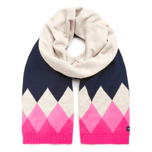 Joules Rothley Argyle Knitted Scarf