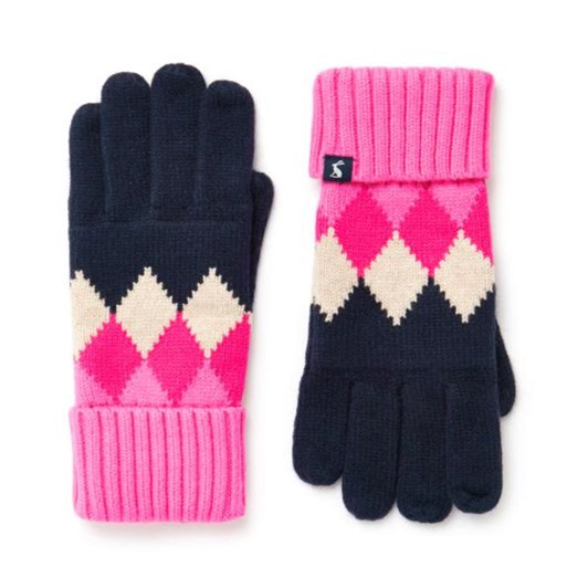 Joules Rothley Argyle Knitted Gloves