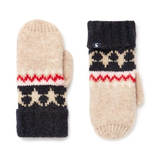 Joules Wilbury Fairisle Knitted Mittens