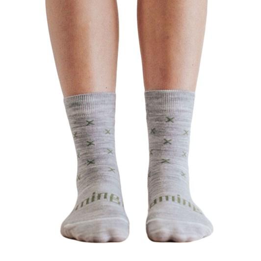 Lamington Socks Basil Merino Wool Crew Socks
