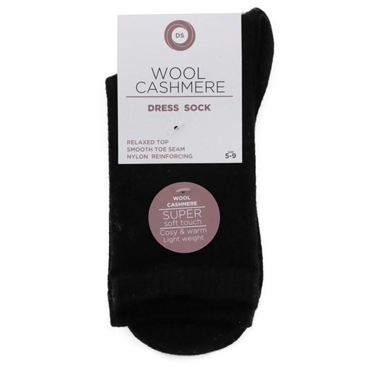 Designer Textiles Wool Cashmere Plain Sock