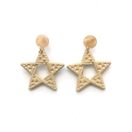 Stella + Gemma Natural Weave Star Earring