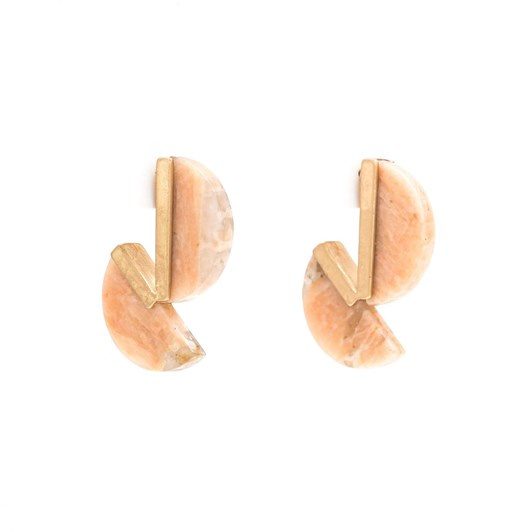 Stella + Gemma Rose Split Moon Earring