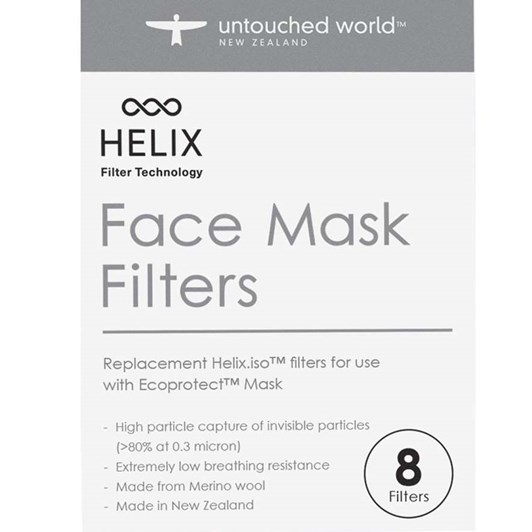 Untouched World HELIX.iso Mask Filters (Pack of 8)