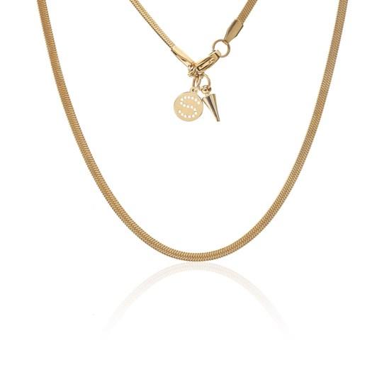 Silk & Steel Herringbone Necklace