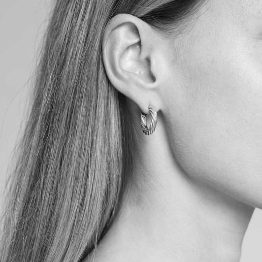 Monarc Jewellery Twisted Sister Hoops Silver