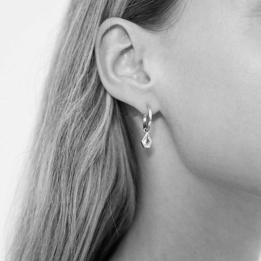 Monarc Jewellery Amy Maison Charm & Virginia Hoops Silver