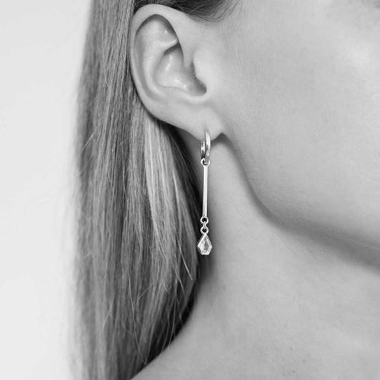Monarc Jewellery Maison Pendulum & Virginia Hoops Silver