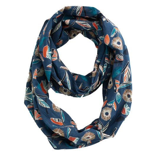 Seasalt Everyday Circle Scarf Stitched Floral Raincloud
