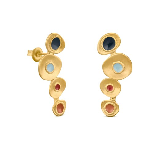 Joidart Favorita Colors Medium Golden Earrings