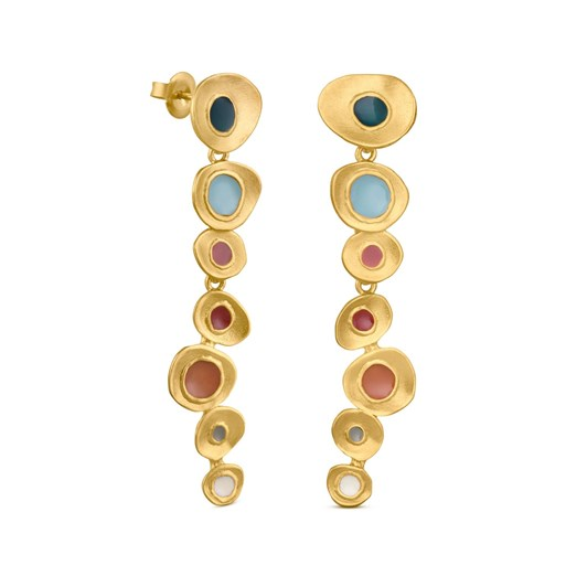 Joidart Favorita Colors Large Golden Earrings