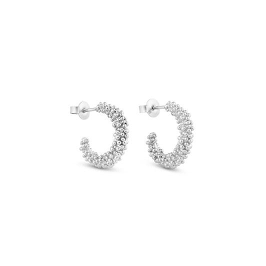 Joidart Stardust Silver Medium Hoop Earrings
