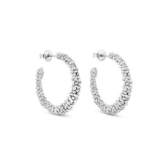 Joidart Stardust Silver Large Hoop Earrings