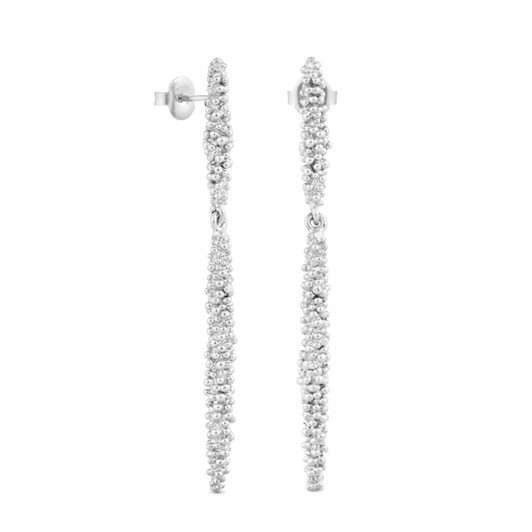 Joidart Stardust Long Silver Earrings