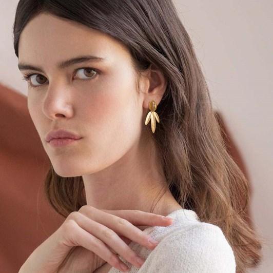 Joidart Olivia Medium Golden Earrings