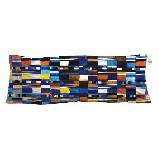The Artist Label Blue Geometrical Silk Neck Scarf