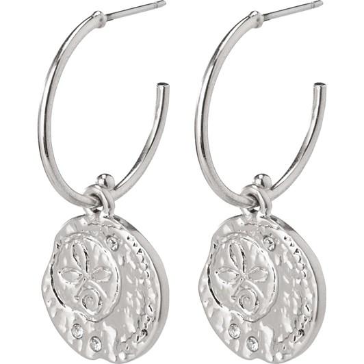 Pilgrim Warmth Silver Plated Crystal Earrings