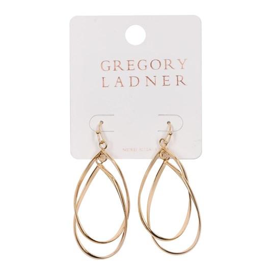 Gregory Ladner Double Teardrop Metal Drop Earring