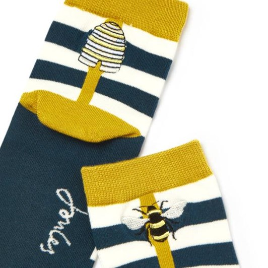 Joules Brill Bamboo Embroidered Socks
